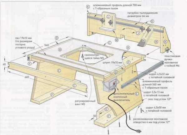 Параллельный упор для фрезерного стола своими руками чертёж 37